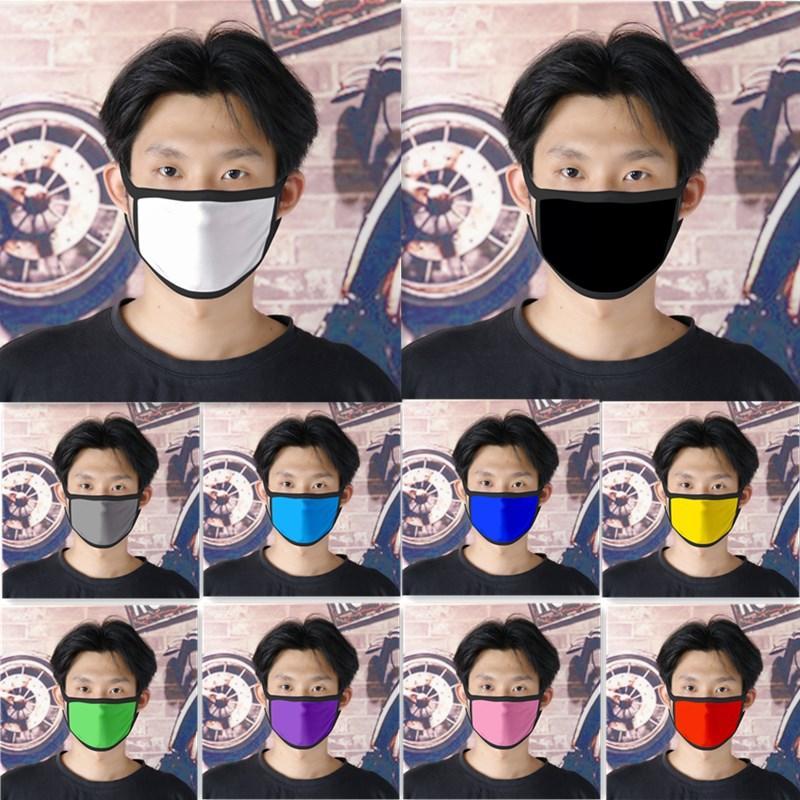 10 Farben Pure Color Blank Maske Kinder-Antistaub-Mouth Muffel Erwachsene Waschbar Wiederverwendbare Gesichtsmasken Mehrweg