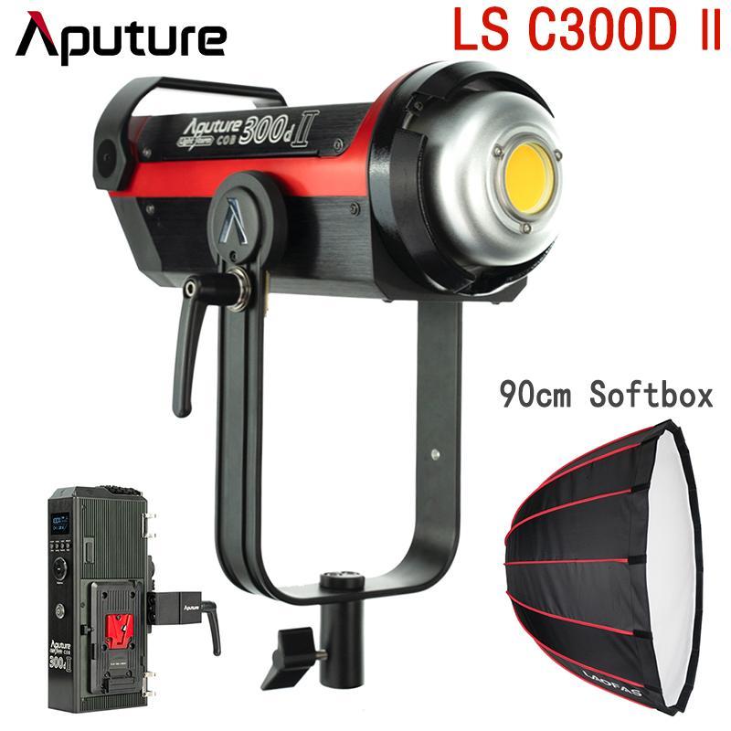 Aputure LS C300d II LED Video Light pour l'extérieur Video Studio photographie d'éclairage Pergear LAOFAS profond Parabolique Softbox