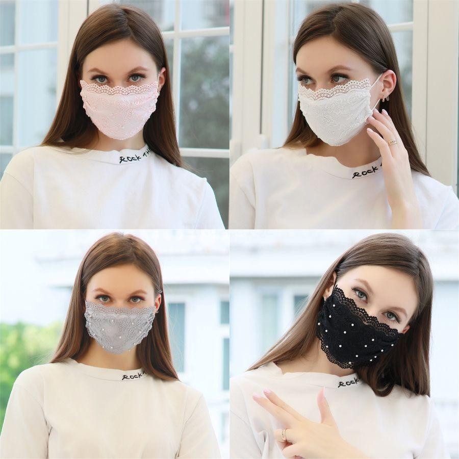 Imprimé Fleur Masque Mode Anti-brouillard anti-poussière lavable bouche Prective Masque avec un 1 Masques Feuille 1pcs # 636