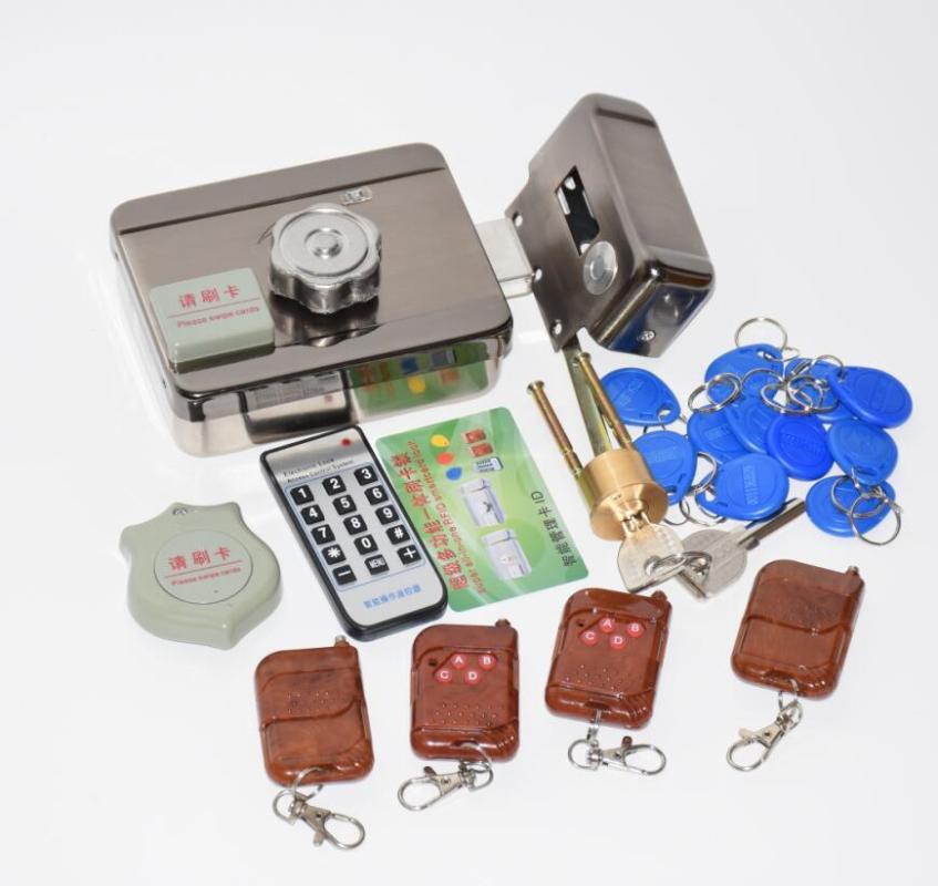 kit de bloqueio 1 2 3 4 controles remotos electrónicos DC12V integrado porta electrónica fechadura rotativo de leitura aberta