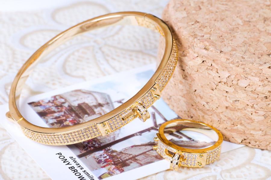 creative belt ring accessories classic circle bracelet silver rose gold new simple star bracelet friendship bracelets jewelry wholesale
