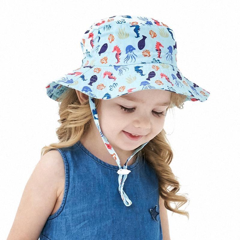 2020 2020 New Summer Enfants Bébés filles Printed chapeaux de soleil Protection solaire Chapeau Outdoor Fishman Caps 6M 8T De Bosiju, 21,52 $ | DHgat BMqm #