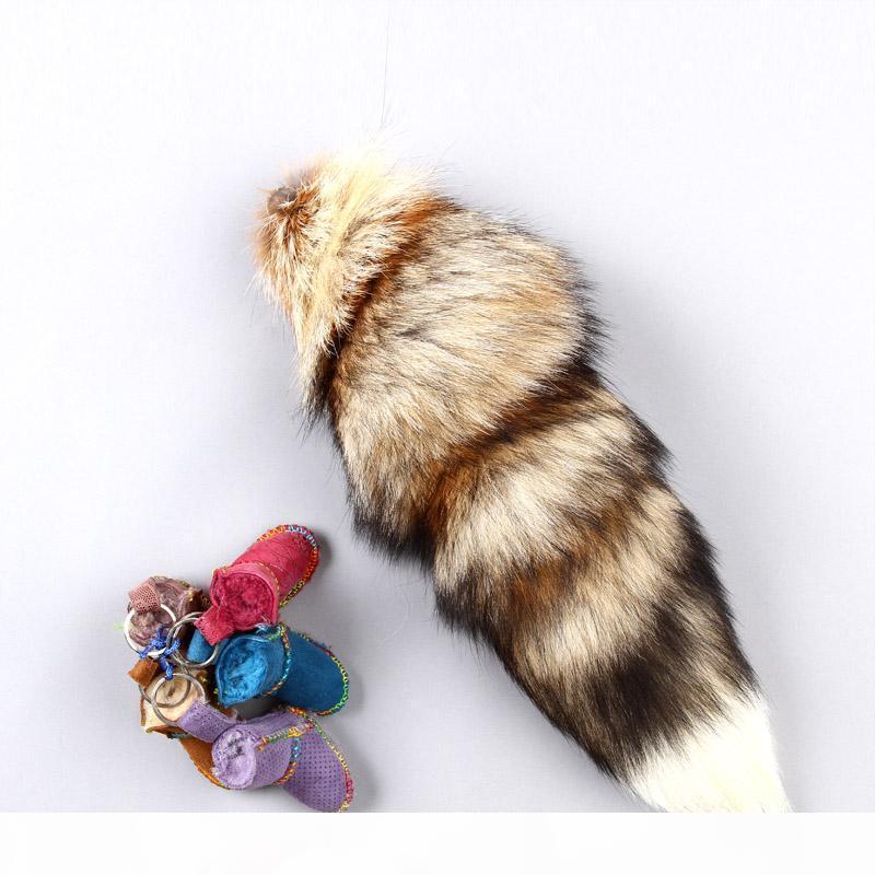 Sun Fuchsschwanz Anhänger Tide Pelz Keychain Tasche Ornaments Mode in über Beliebtes Interi
