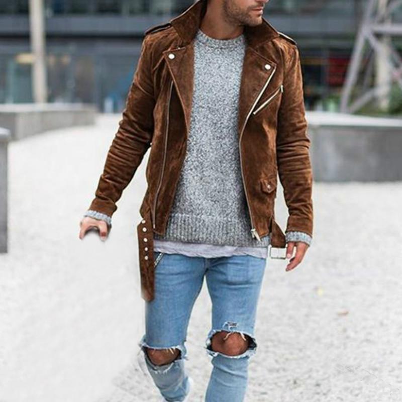 Street Style Hommes Veste Casual solide Couleur manches longues Vestes ruché 2020 nouveaux hommes Manteaux d'hiver