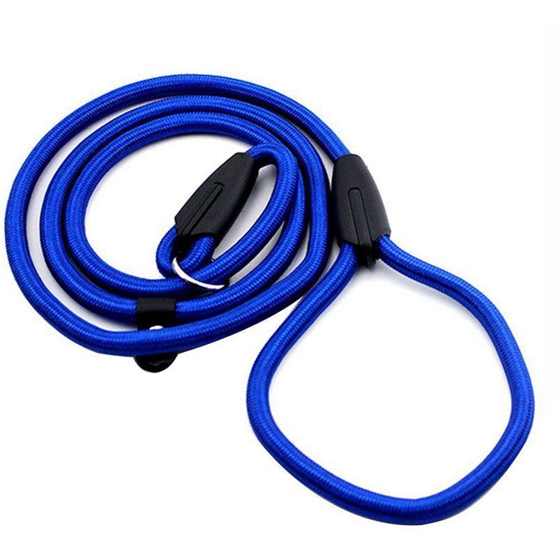 CALDO robusto Collare corda in nylon per cani di slittamento di addestramento Walking vantaggio con blu P Catena 1 centimetro
