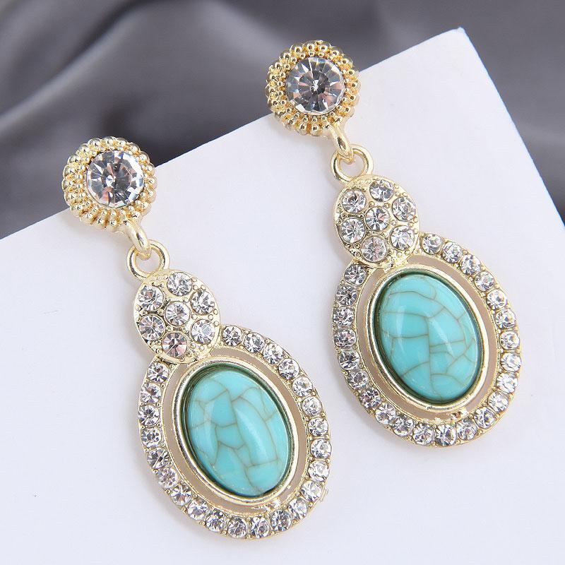 Joyas de oro resina del color de piedra pendientes de gota de cristal para las mujeres de Corea joyas pendiente de Declaración de la Circular 2020 colgante