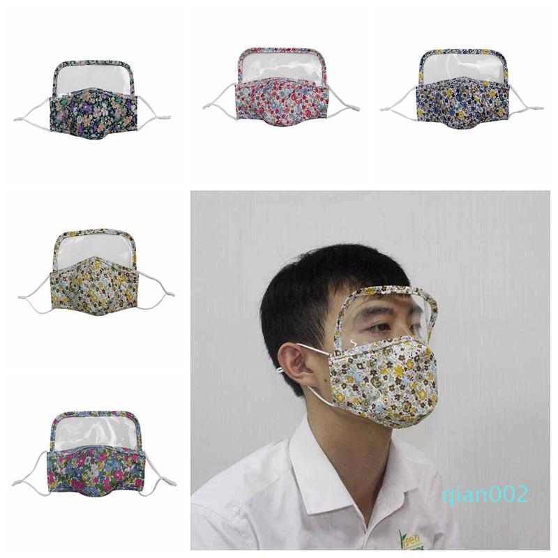 Máscara de proteção para o rosto Adulto poeira lavável Designer Boca Máscaras ajustável reutilizável Eye escudo protetor Máscaras YYA348