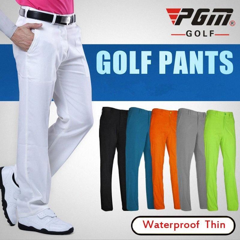 Pantalons Hommes Golf Clubs été Respirant Pantalon de golf pour les hommes Quick Dry Longueur pleine taille Pantalon mince XXS-XXXL # D0357 SQCR