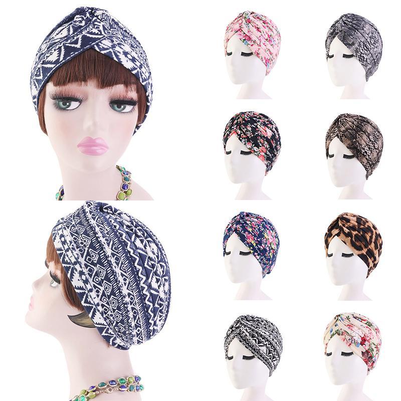 Le donne musulmane floreale Turbante interno Hijab Cap Bandane cappello islamico fascia Turbante foulard volant Headwrap femminile musulmana Hijab Copricapo