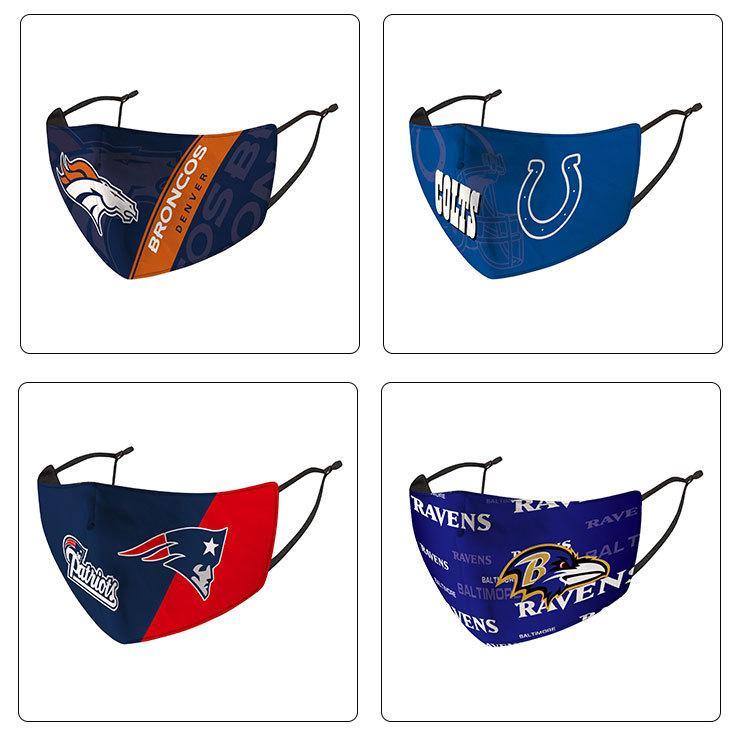 nova moda engraçado League Rugby Mask Chiefs Patriots Águia Cowboy Tiger Steelers Fina lavável Rosto navio DHL livre