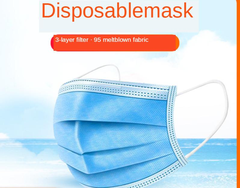 DHL Free Shipping ear-hanging disposable three-layer spray cloth 95 mask non-none. Bacteria disposable mask for civil use