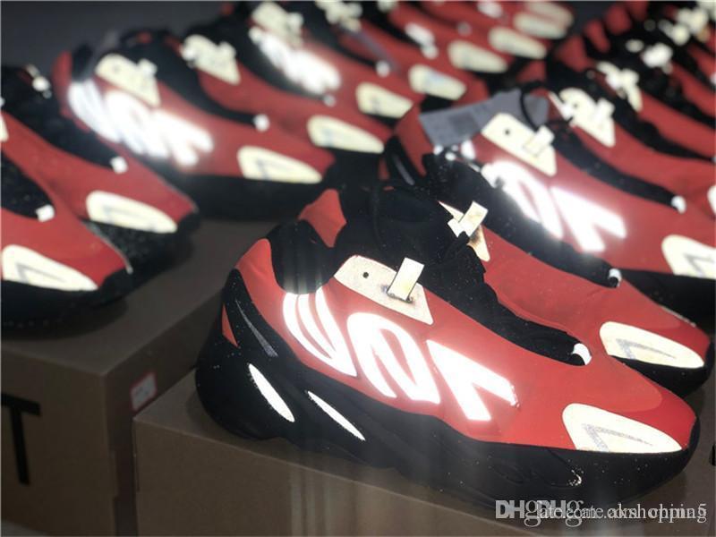 Оригиналы 700 Оранжевый FV3258 MNVN Bone Серебро Тройной черный Фосфор кроссовки Мужчины 3M Reflective Kanye West Аутентичные кроссовки с коробкой