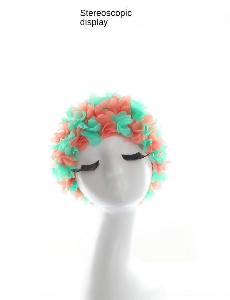 2015 Новые Трехмерный лепестки цветка супер шапочка для плавания супер эластичный негабаритный светова плюс женщина подкладок длинных волос шапка плавания 9ErOU