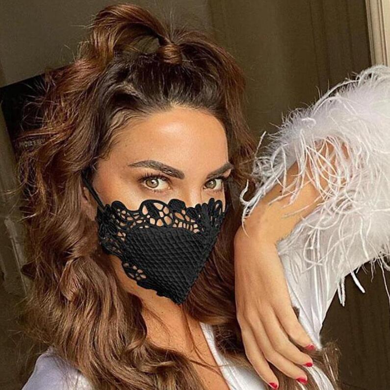 Protective Gesicht Fashion Lace Personality Staubdichtes Respirator Breathable Baumwolltuch Maske waschbar wiederverwendbare Masken Bwd889