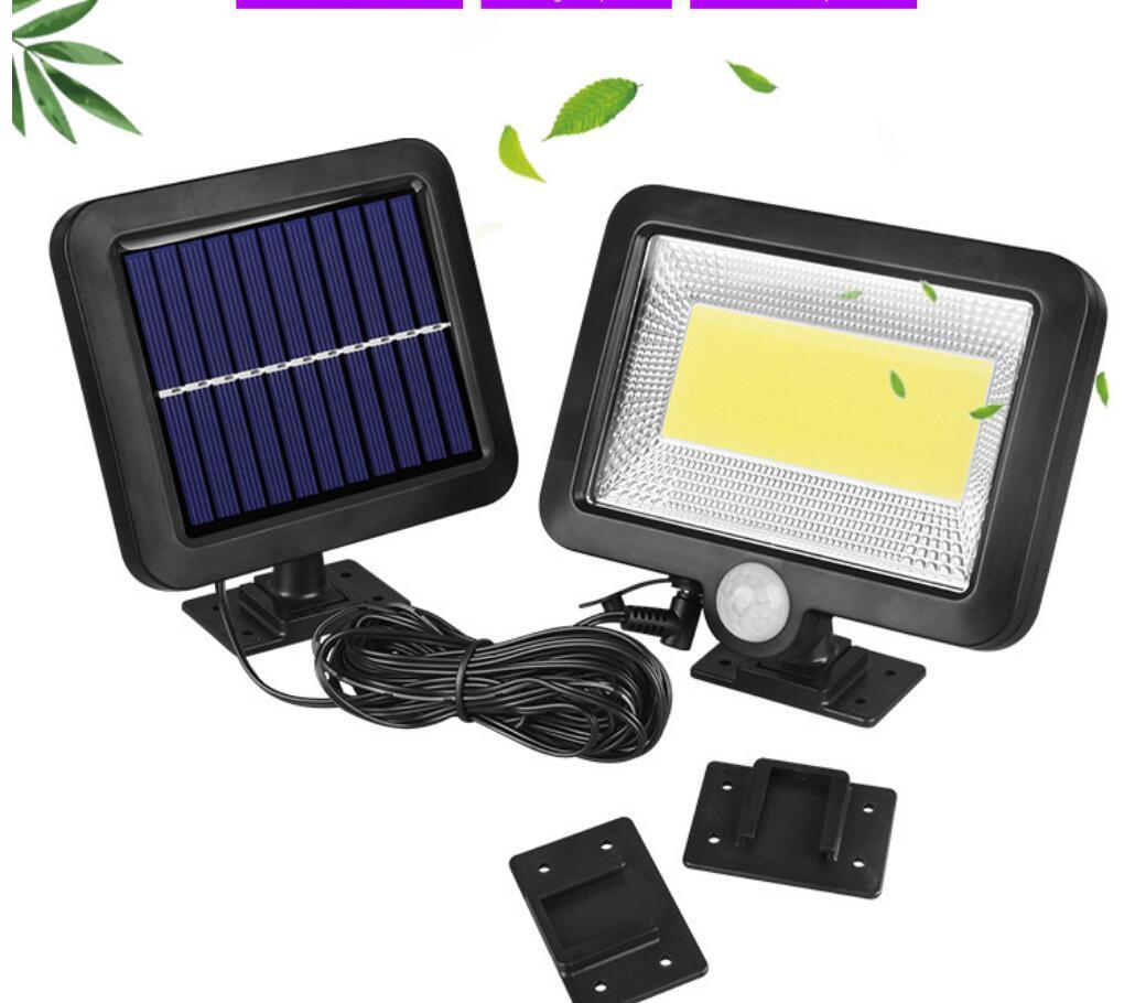Сплит тип солнечной привело индукции свет стены 100COB отдельный крытый и открытый сад огни гараж света 2PCS