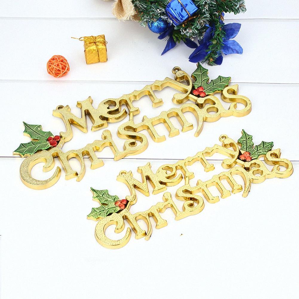 Plastik Noel İşaret Alfabe Asma Kart Merry Christmas Etiket Mağaza Süsler Ev Dekorasyonu Restoran Narin Noel ağacı Otel YZZn #