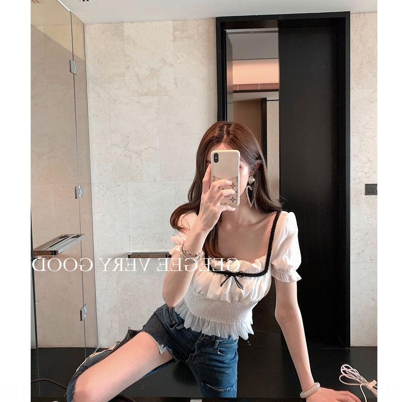 T- Underpants T- kadın kısa kollu gömlek öğrenci aşınma taban gömlek şifon 0Ad9p 2020 kız moda çevrimiçi popüler kabarcık kol