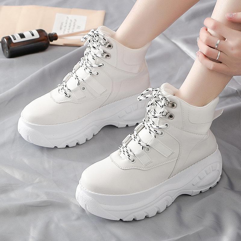 Zapatos de las mujeres baratas 2020 marea coreana versión de la mujer calzado casual con suela gruesa papá-Calzado Mujer puro zapato casual de la manera cómoda de color