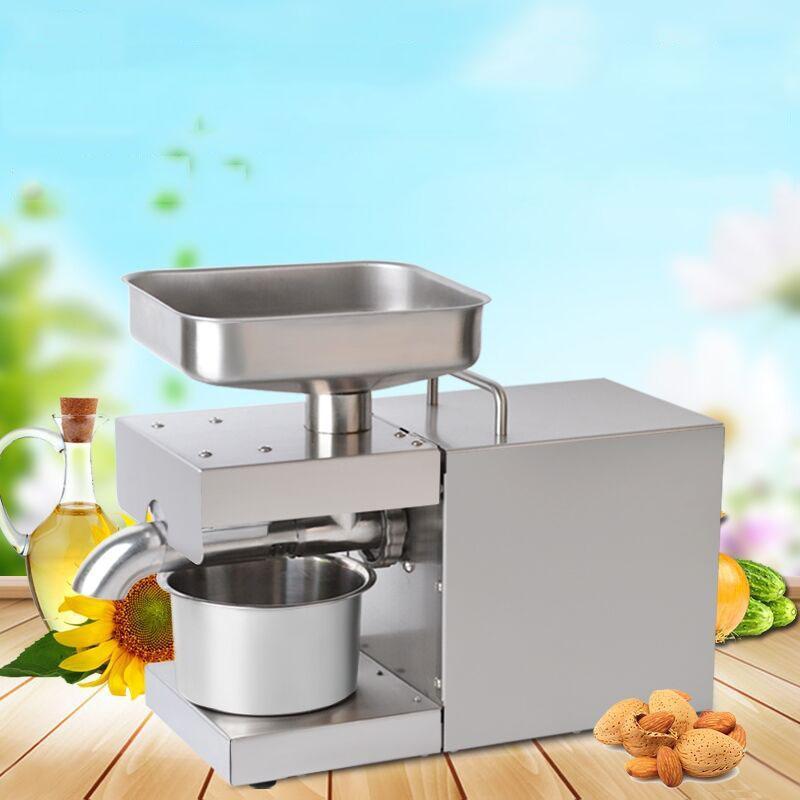 La venta de prensa de aceite del acero inoxidable de la prensa de aceite de la máquina de extracción de aceite de oliva automática de cacahuete coco Extractor expulsor 220V