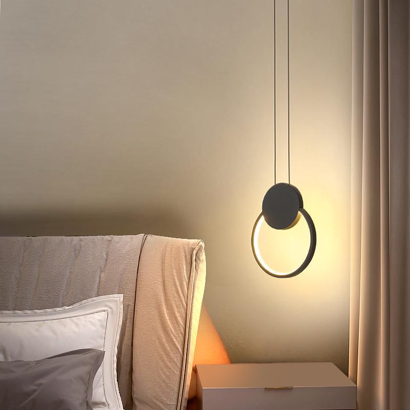 Современная подвеска спальня прикроватные свет подвесные светильники минималистский ресторан бар творческого изображения подвесной светильник
