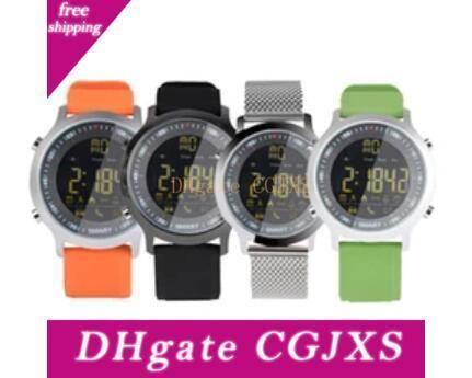IP67 a prueba de agua EX18 inteligente reloj de los hombres relojes deportivos podómetro Bluetooth 0.0 4 Llamada SMS Recordatorio Para Android Ios resistentes relojes inteligentes