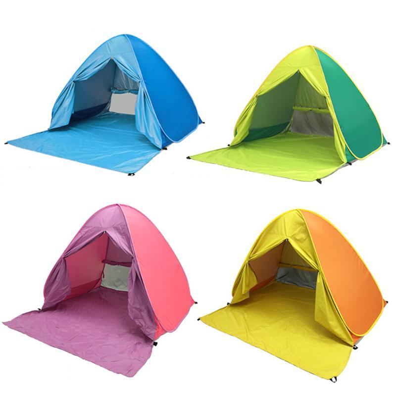 حتى شاطئ مظلة خيمة التخييم في الهواء الطلق المشي لمسافات طويلة المضادة للأشعة فوق البنفسجية واقية من الشمس المأوى