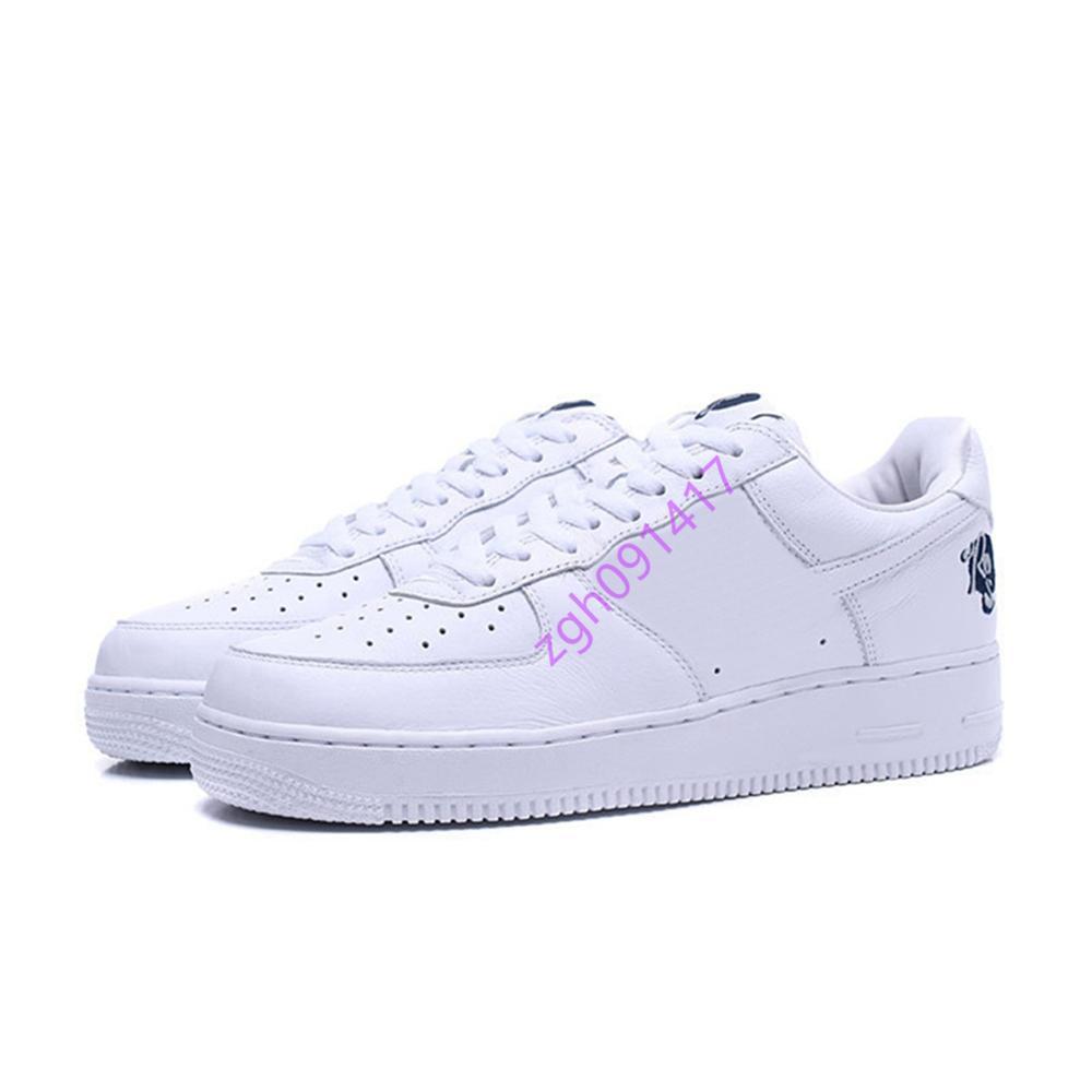 Nike Air Force 1 Low Roc-A-Fella (AF100) الساخن بيع القوات الجديدة 1 منخفضة روك-A-فلة (AF100) AO1070-101 الاحذية مصمم أحذية التزلج منخفضة Chaussures المدربين أحذية رياضية
