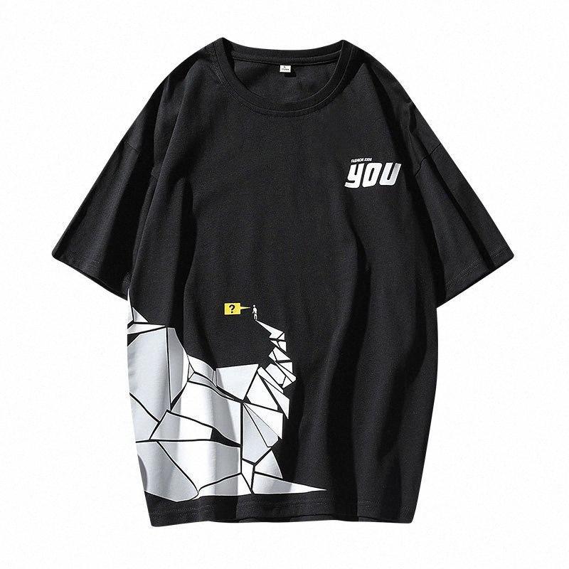 Verão 2020 Novos produtos MENS Manga Curta T Shirt Estilo coreano Slim Fit Casual Versátil Crew Neck Popular fresco Marca T T Shi online Hbv4 #