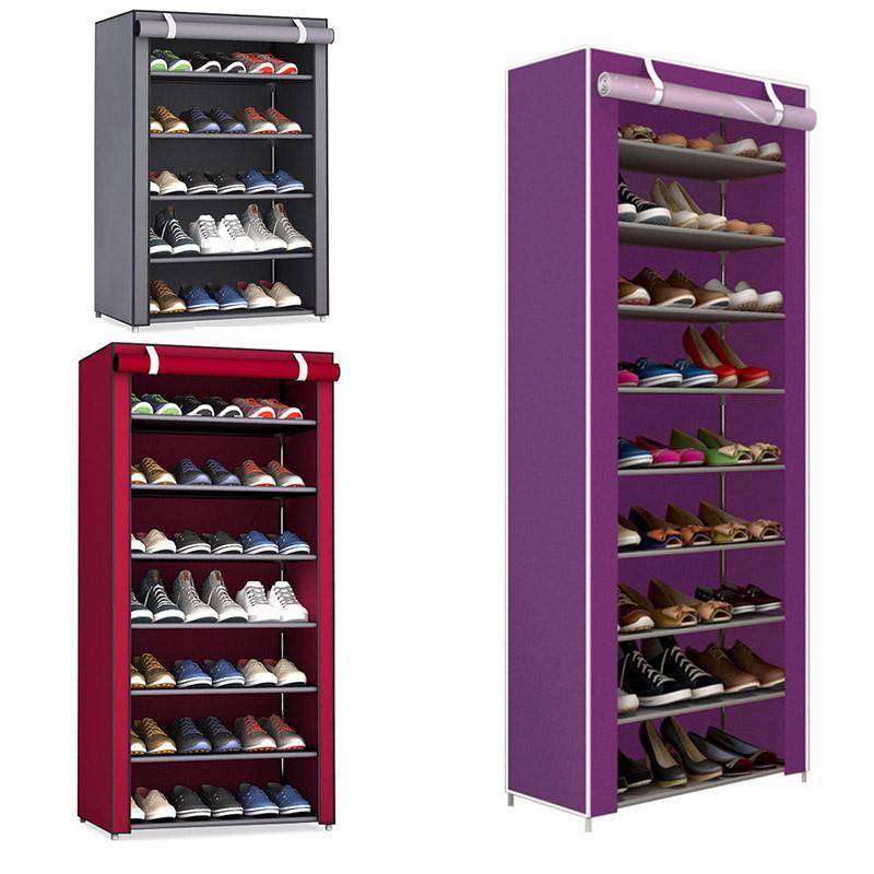 Polonia Russia Cina Stock Shoe Shelf non tessuto Rack Tessuto bagagli Corridoio gabinetto supporto dell'organizzatore Montare Scarpe mensola fai da te Mobili per la casa