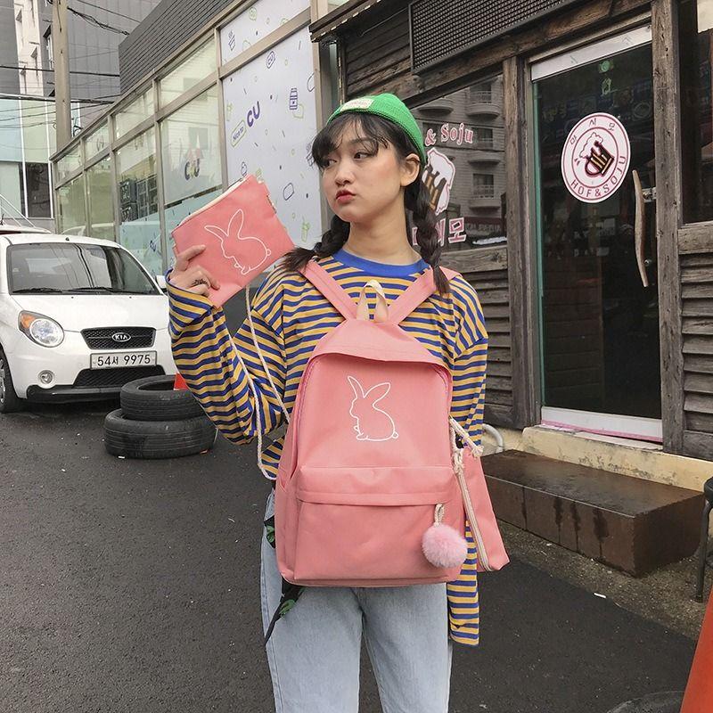 2020 neue Damen Rucksack koreanische Version einfach Harajuku Stil, Mode, Großraum-Rucksack der Frauen