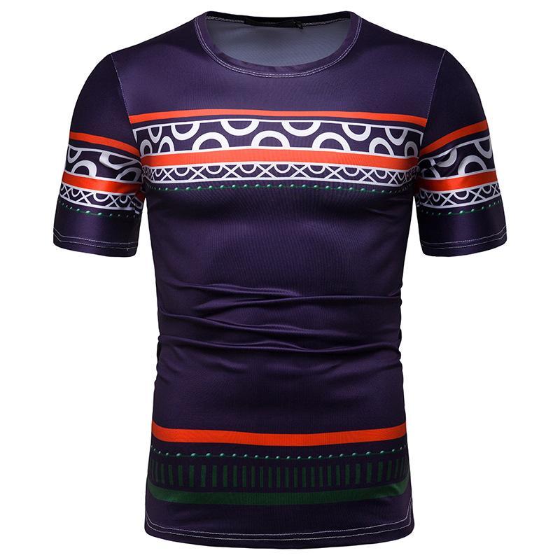 Mode Dashiki Hommes T-shirt 2020 d'été à manches courtes Nouveau Slim Fit Hommes Vêtements Afrique Hip Hop Streetwear Afrique T-shirt des hommes xxl