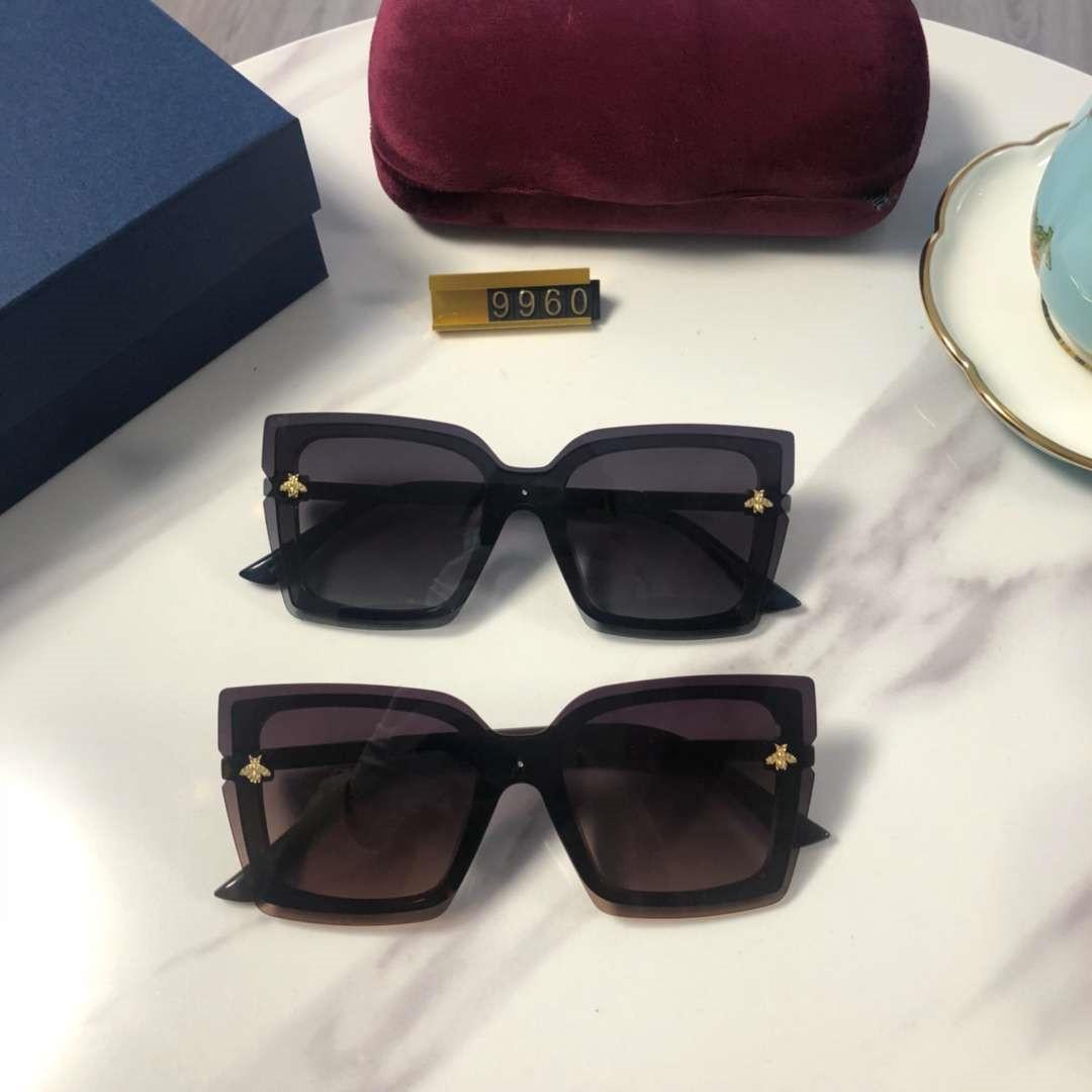 Yeni Bayan Tasarımcı Güneş Lüks Kadınlar Plajı Gözlüğü Gözlük UV400 Arı 9960 5 Renkler Box ile Yüksek Kalite Varış