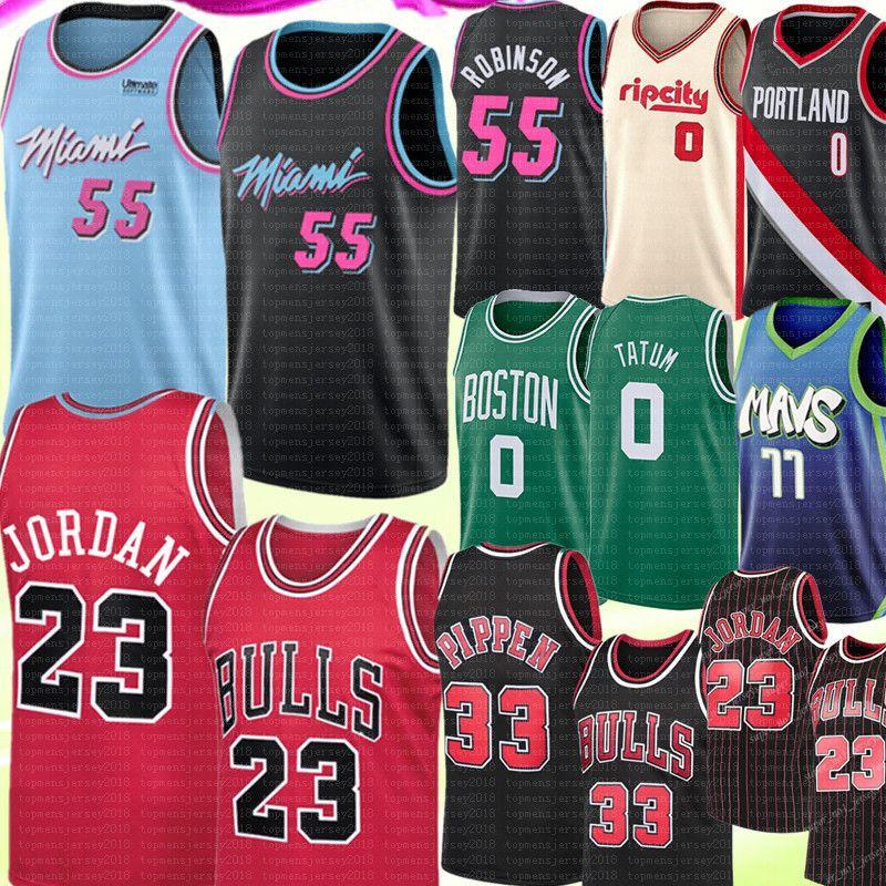 جامعة NCAA دنكان 55 روبنسون 23 مايكل سكوتي بيبن 33 جيرسي لوكا 0 تاتوم 77 Doncic داميان 0 Lillard جيرسي كرة السلة الفانيلة