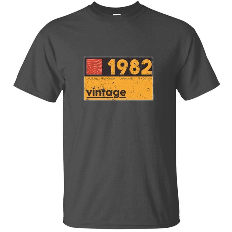Erkek Comic Erkekler Ve Kadınlar Tshirts İçin Slogan Dans Müzik Yapımcı 1982 Vintage Kaset Doğum Tişört