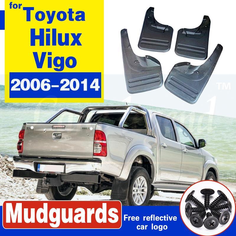 4pcs boue Rabats Garde-boue pour Toyota Hilux Vigo 2006-2014 avant et arrière Garde-boue Fender Accessoires