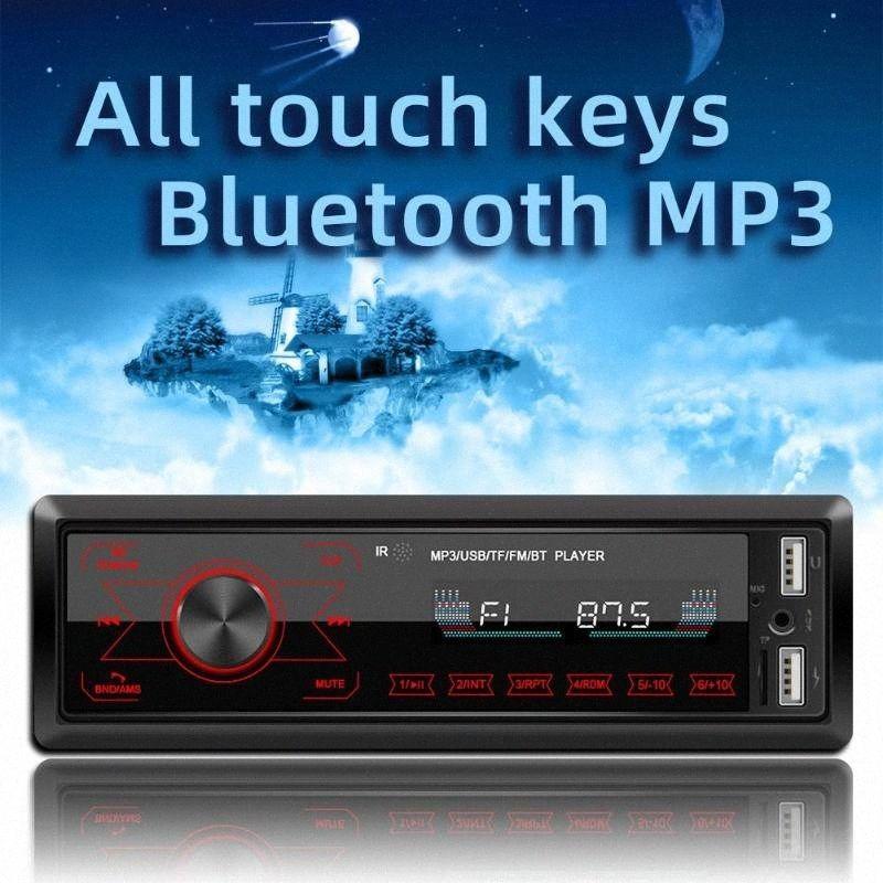 Автомобильный мультимедийный MP3-плеер Bluetooth AUX FM Stereo Авто радио сенсорный экран MP3 плеер с красочными Light Автоаксессуары 0LB2 #