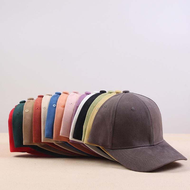 GQzy4 İlkbahar Yaz moda korniş beyzbol marka Amerikan kısa saçaklı kap Kore tarzı şapka erkek ve kadın kavisli saçak beyzbol şapkası har
