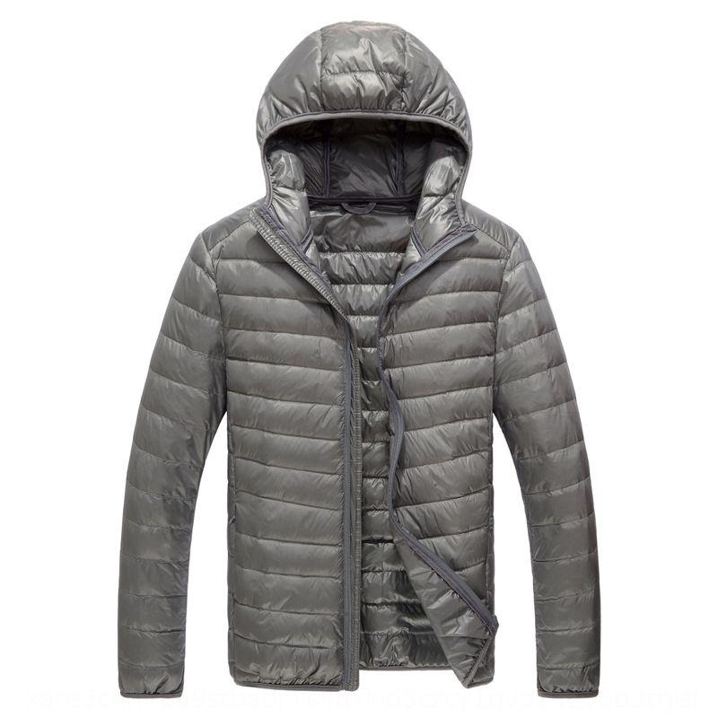 2019 Automne / Hiver nouveau et mince couche de courte veste vers le bas des hommes vers le bas de la mode manteau hommes taille veste à capuche en plus