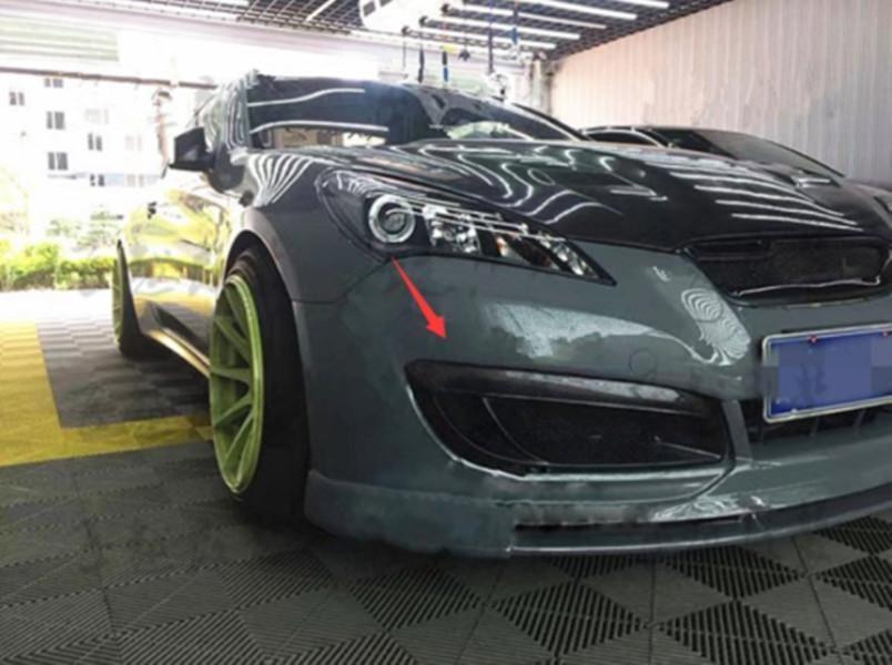 Реальный волокна углерода передние противотуманные фары свет крышка для Hyundai Genesis Coupe 2008-2012