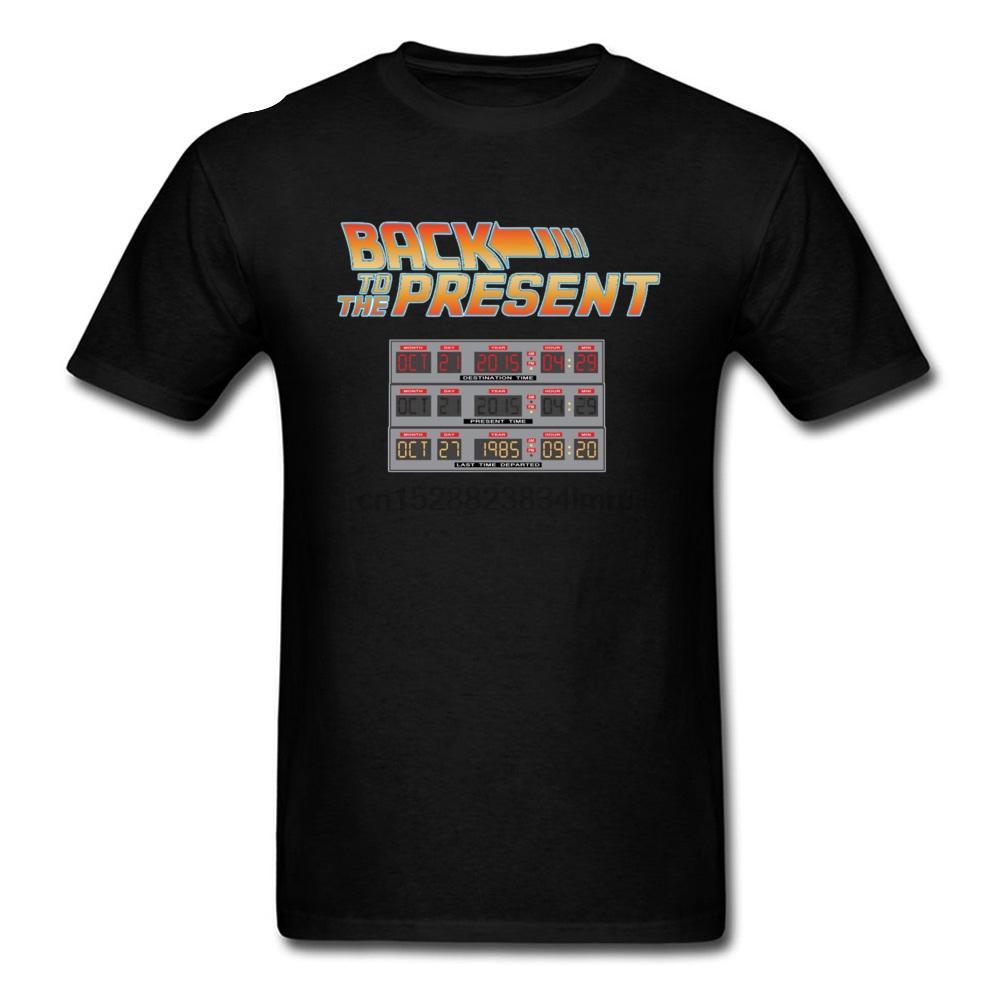 Velocidad de la máquina nueva de la manera loca camisetas Delorean de coches de cuello redondo camisetas de verano camisetas de algodón de vuelta al presente para hombre T-Shirts