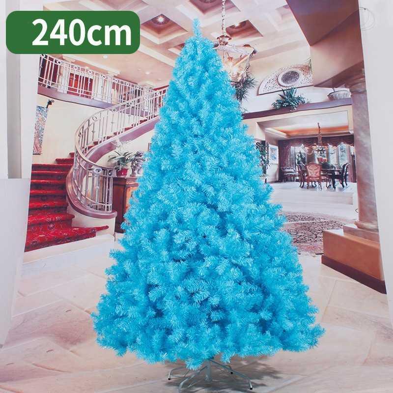 Ev ücretsiz nakliye için 240cm Noel ağacı siyah mavi yapay Noel ağacı süsleri neşeli süslemeleri