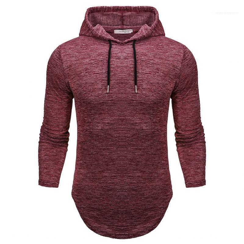 Casual Sweat Homme Vêtements Slim Hommes Designer ras du cou Sweats à capuche couleur unie à manches longues pulls avec capuche