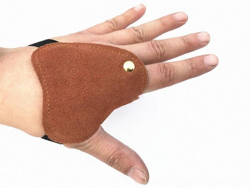 НОВЫЙ протектор микрофибры Левая рука Finger Guard износостойкой безопасности лучника Перчатки Гольф Учебные пособия Гольф на открытом воздухе съемки Hunt CER3 #
