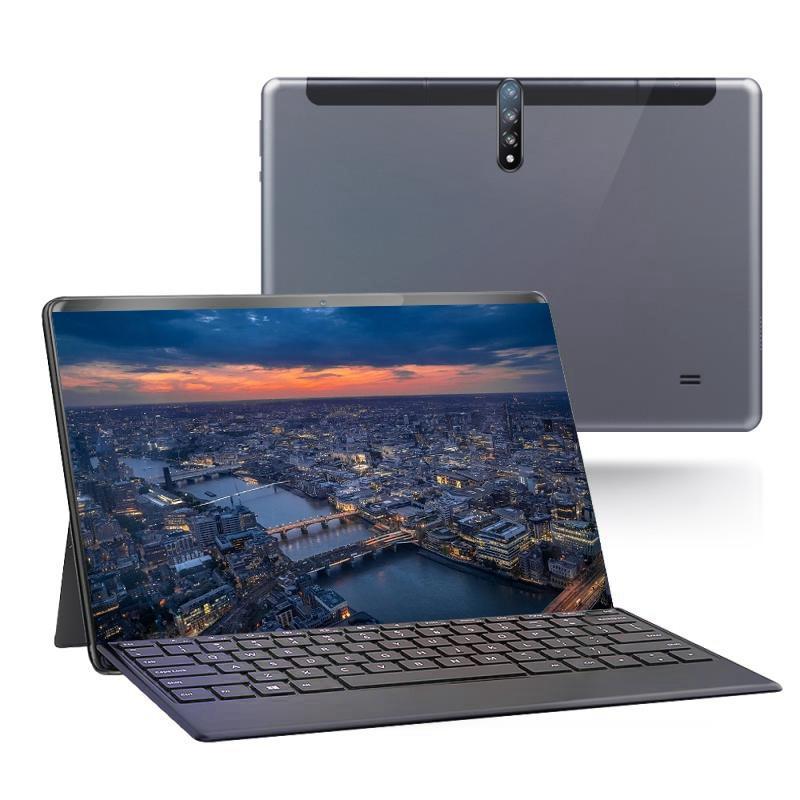 Tablet PC 10 Polegada HD Exibição Android 3G Telefone Chamada Tablets Dual SIM Cartões com teclado destacável