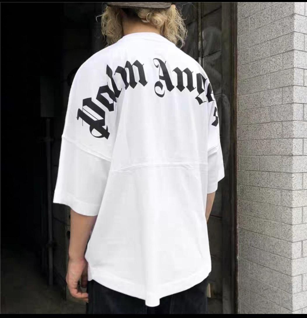 2020ss kanye west palm angels angel Frauen Symbol Designer lose Herren T-Shirt Männer-Frauen-Qualitäts Art und Weise gewaschene Hip-Hop-Engel T-Stücke Shirts SxL a6294d #