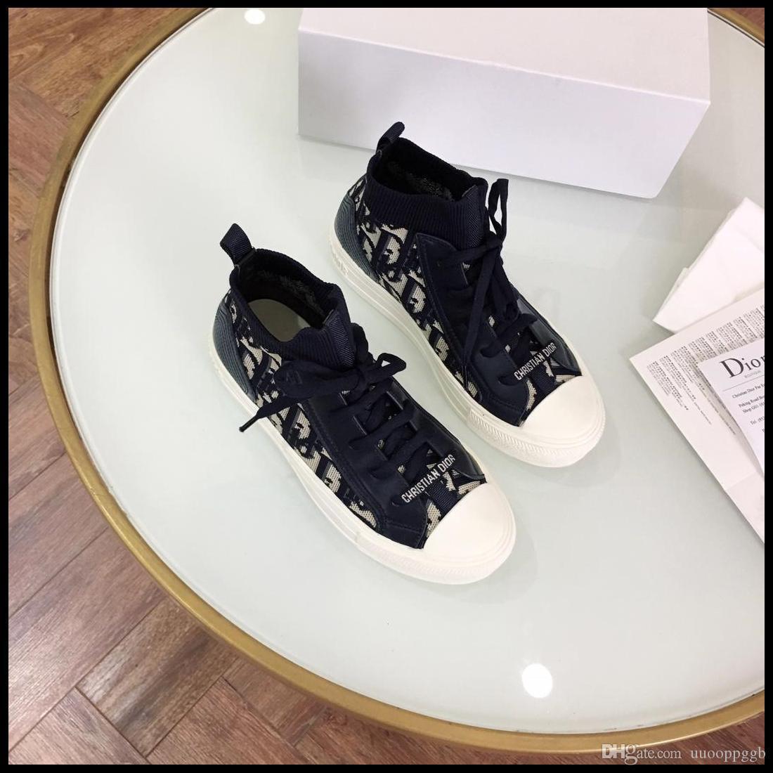 2020T nuove signore casuali i pattini del partito signore di modo calza di viaggio, high-top scarpe stringate consegna veloce confezione scatola originale