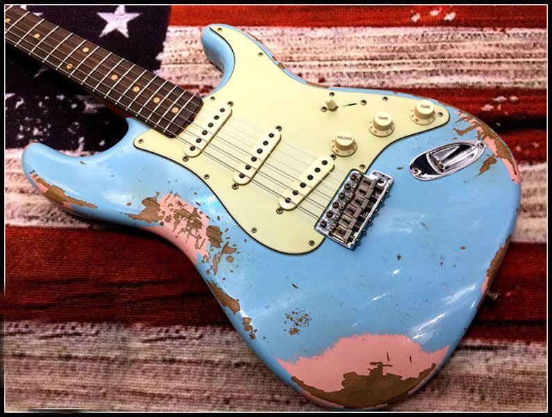 Качество Электрическая гитара на заказ в возрасте / Relic BL GR Гитара