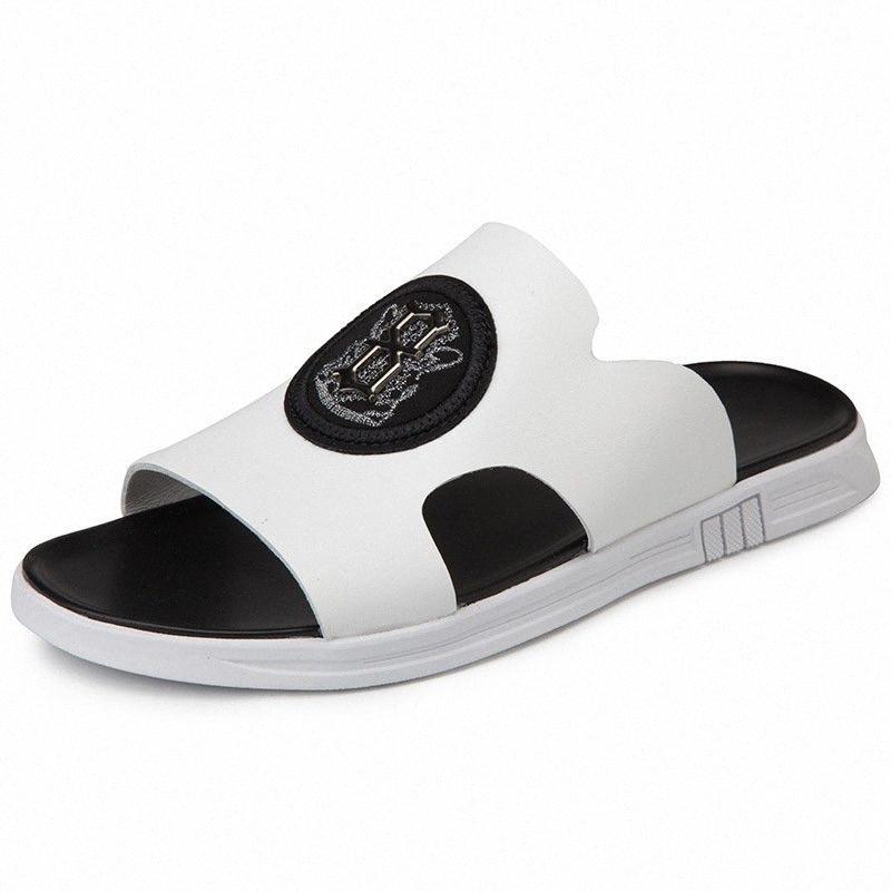 2020 2020 modo di estate di Uomo sportivo sandali di slittamento non resistente all'usura scarpe da spiaggia all'aperto primo strato di pelle Scarpe uomo G7r1 #