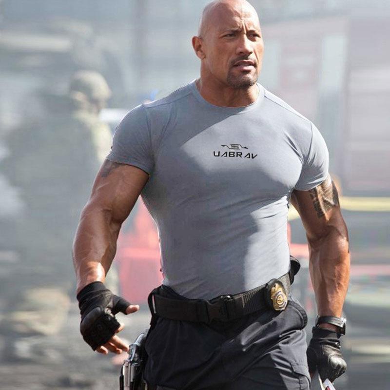 511 de secado rápido de manga corta de los hombres de la ropa tramo de la camiseta T-shirtfans formación apretada camiseta de entrenamiento físico Rqf7K táctica