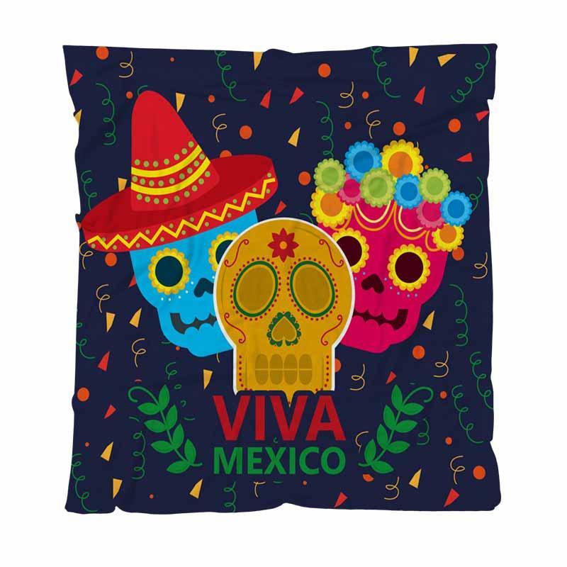 Inizio Coperta Moda lettera stampata Coperte, Viva Mexico Celebrazione, leggera coperta calda per divano letto divano da esterni di viaggio